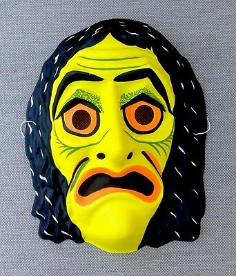 VINTAGE Tribal Monster Creature HALLOWEEN MASK Mint Shape Plastic Style
