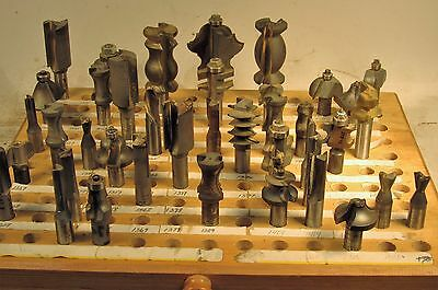 """40 Assorted 1/2"""" Shank Carbide Tipped Router Bits - Various Profiles"""