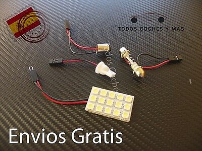 Bombilla Led Panel 15 Led Smd 5050 Coche T10 Ba9S C5W Festoon Interior Placa Led
