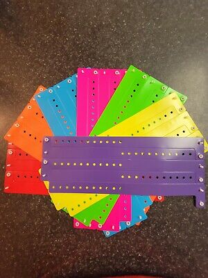 "30  3/4"" Neon Bright Assorted Plastic/ Vinyl Wristbands, Wristbands For Events,"