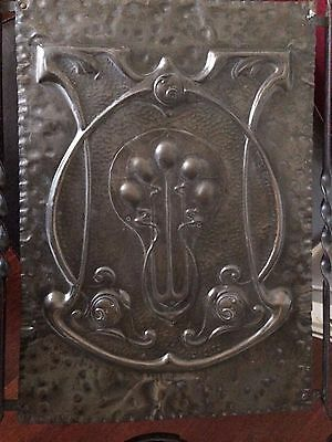 Art Nouveau Style Metal Brass(?) Fire Screen