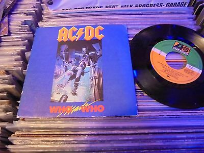 "AC DC WHO MADE WHO rar spain promo 7 "" , mint condition"