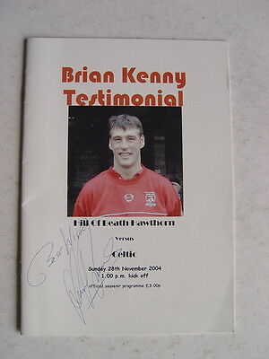 Hill of Beath Hawthorn v Celtic 2004 Brian Kenny autographed