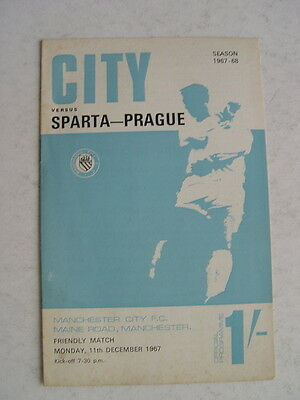 Manchester City v Sparta Prague 1967/68 Friendly
