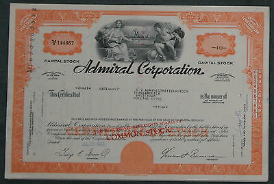 Lot 35 X Admiral Corporation less than 100 shares 1960/1970er