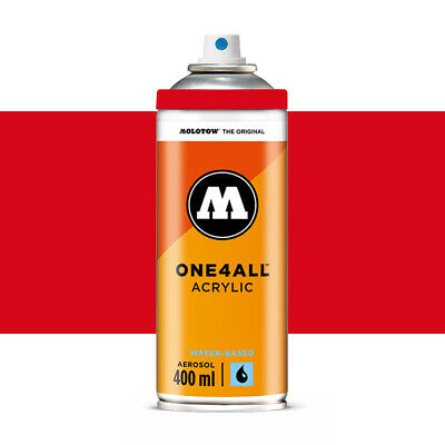 Molotow : One4All : Acrylic Spray Paint : 400ml : Traffic Red : By Road Parcel O