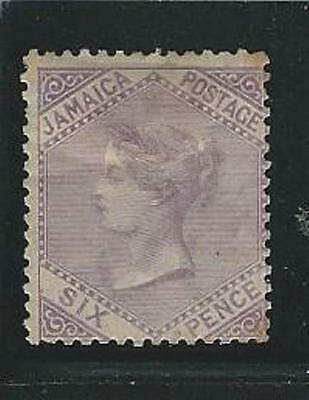 Jamaica: Scott 11 mint, hinged, light stain, cat 85$. JA17