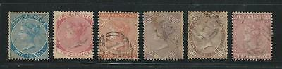 Jamaica: Scott 7 to 13 (missing 9), used, WMK CC crow, VF, Cat +30$... JA19