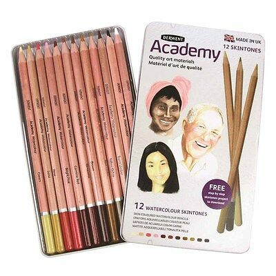 Derwent Academy Watercolour Set of 12 Skintones