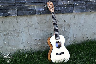 Solid Spruce Top Tenor Ukulele - The Malu by Twisted Wood Guitars W/Gig Bag
