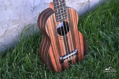 Soprano Ukulele Ebony - The Dorado by Twisted Wood Guitars w/Gig Bag