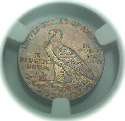 1914-D Indian Head Quarter Gold Eagle $2.50 - NGC AU58