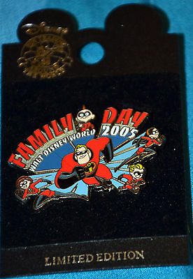 Family Day Walt Disney World 2005 The Incredibles family limited pin LE 1000