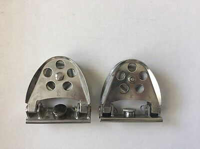 2 Schaefer Stainless Steel Half Moon Genoa Lead Blocks