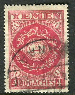 YEMEN;  1930 early issue fine used 4b. value