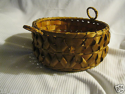 MicMac Indian ash splint biscuit  basket
