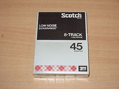 Scotch 8-Track Dynarange Low Noise 45 Cartridge Tape 8-Spur Kassette Ovp Sealed