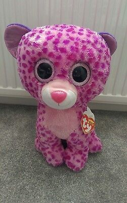 "TY BEANIE BOO LARGE GLAMOUR LEOPARD 16"" Plush toy"