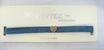 Wholesale Chokers 12 PCS Choker Necklaces Denim With Crystal Heart Party Favors