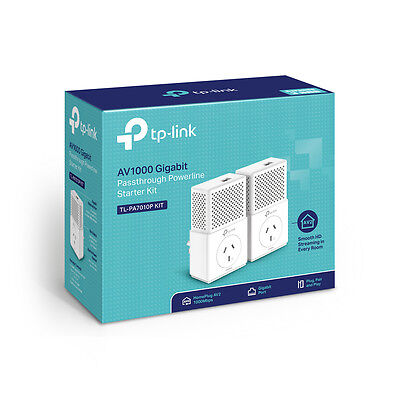 TP-Link TL-PA7010P KIT AV1000 PowerLine Ethernet Network Adapter Range Extender