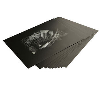 Essdee : Scraperfoil : Black coated Holographicfoil : 305x229mm : Pack of 10 She