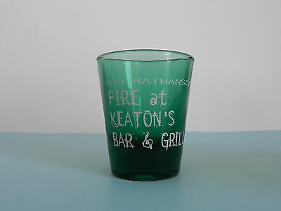 Elvis Costello Roy Nathanson Fire at Keaton's Bar & Grill Shot Glass