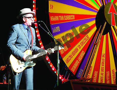 "Elvis Costello Spinning Songbook Toronto 2011 Photo Print 8.5""x11"" Landscape"