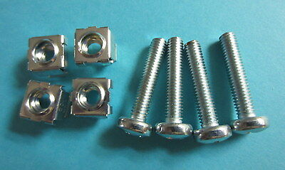 SET OF FOUR CHASSIS BOLTS AND NUTS FOR MARSHALL AMPLIFIER JMP JCM 800 900 screw