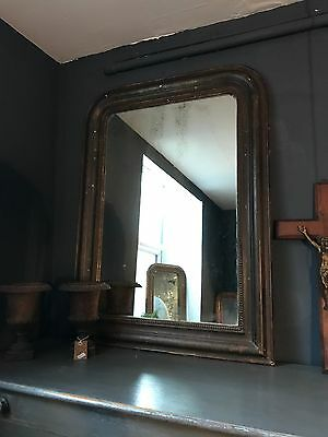 Antique French Louis Philippe Original Pained Foxed Mirror