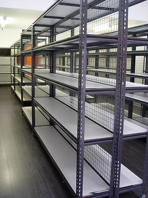 Metal Steel Powder Coated Shelving for Retail Shops, Garage 2135mmL x 2135mmH
