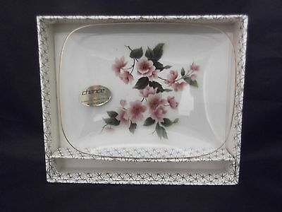 Chance Glass Pilkington Group Dish & Pickle Fork Boxed Vgc