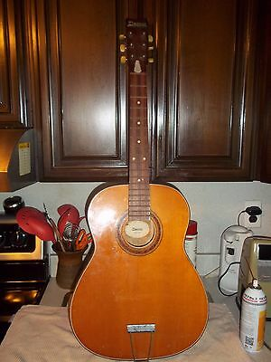 Vintage 1960's Decca Ny Parlor Guitar Made In Japan!