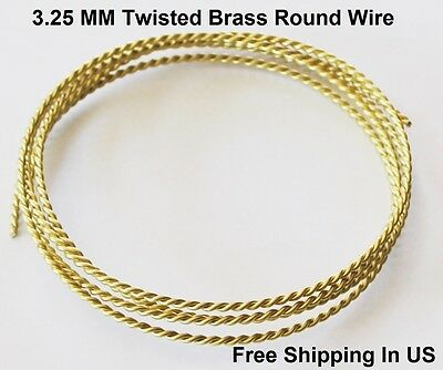 See Description // Made In USA #26 10 Ft Coil Bronze Fancy Twisted Wire 20 Ga