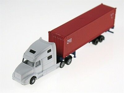 Kato N Scale Volvo Highway Tractor Trailer W/ 40' Container And Chassis 31615