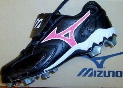 Cleats Fastpitch Baseball Black Mizuno Finch Franchise 9 Spike Women sz 5 M New