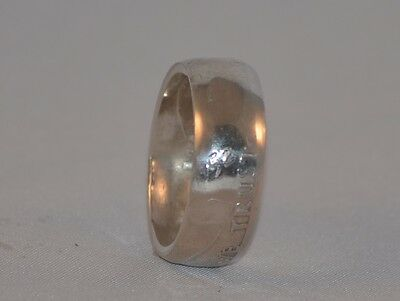 Size 9 1/4 Ring Handmade From A 90% 1952 Franklin Half Dollar Coin F-137