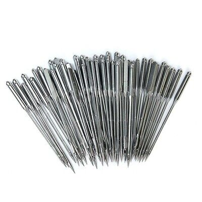 50 Home Sewing Machine Thread Needle Kit Craft Size 11 12 14 16 18 For Singer
