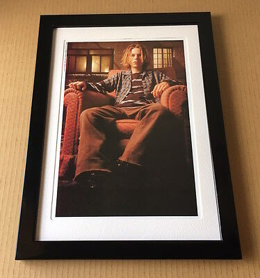 1994 Beck in chair JAPAN magazine photo pinup / mini poster picture FRAMED b7r