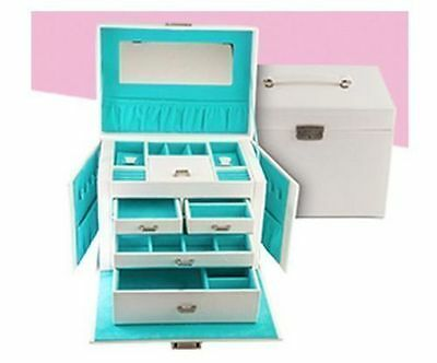 AUTHENTIC ORIGAMI OWL WHITE LEATHER JEWELRY BOX NEW 2015 Hostess Exclusive