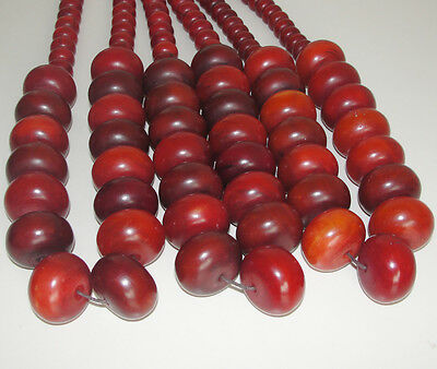 Beautiful African Amber Large Bead Necklace Trade Beads Red Africa Kenya Jewel