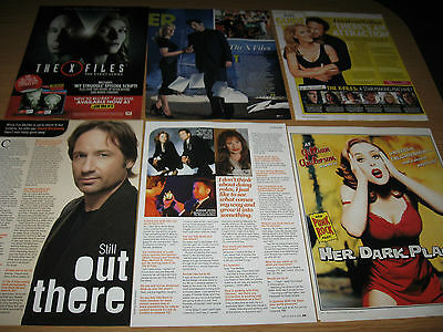 THE X-FILES - GILLIAN ANDERSON DAVID DUCHOVNY- Magazine Clippings