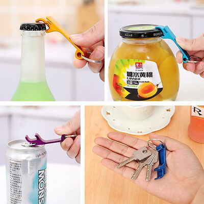 3Pcs Bottle Opener Key Ring Chain Keyring Keychain Metal Beer Bar Tool Cute Claw