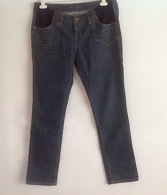 NEW LOOK Dark blue straight leg Maternity Denim Jeans Size 14 ex condition