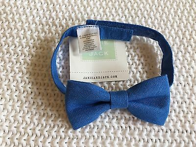 Janie and Jack Navy Blue Linen Bow Tie 1 2 3 Years NWT $20 HTF Summer