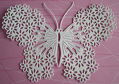New Tattered Lace Die Cuts  DITSY PETAL BUTTERFLY. LARGE TOPPER/FLOWER/MOTHER