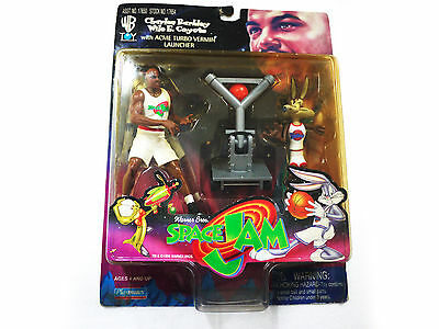 Vintage 1996 SPACE JAM - Charles Barkley/Wile Coyote Action Figures!