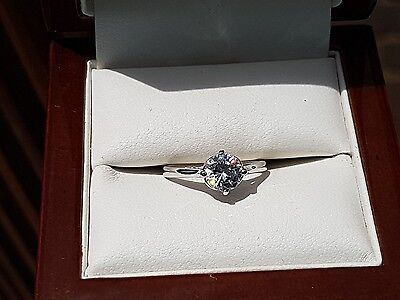 925 sterling silver solitaire ring size j/k