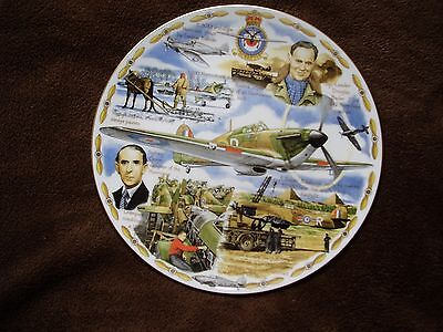 The Hawker Hurricane  LEGENDS OF THE AIR Royal Worcester Plate. Cert Ltd Ed