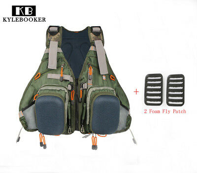 Fly Fishing Backpack Adjustable Size Mesh Vest Pack Combo Two EVA Foam Patches
