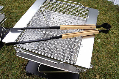 New Snow Peak Heavy Duty Fire Tongs For Firepits Or Bbq Units Xn-017-12